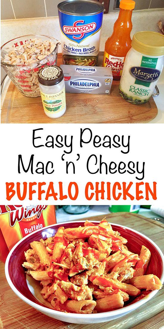 Buffalo Chicken Mac And Cheese Easy Peasy