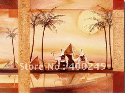 Искусство картина маслом, Пейзаж живопись, Пустыня мечты III альфредом gockel, 100% ручной работы, Современный искусство брезент