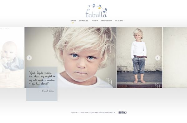 FABULLA WEBSITE by Julie Abelsen, via Behance