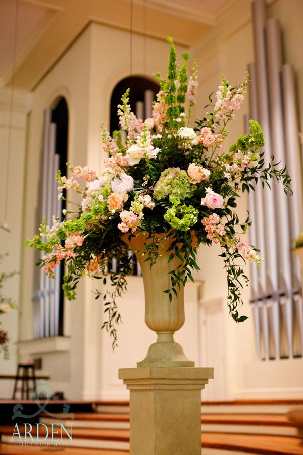 Meredith Matt Wedding Alter FlowersAltar