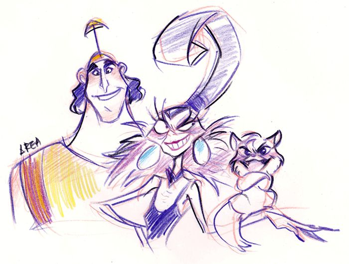 The Emperor's New Groove - Yzma and Kronk by ~area32 on deviantART
