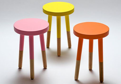 dipped stools/side tables