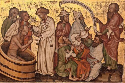Der Böhmische Altar, Böhmen, vor 1375; Szenen des Apostels Paulus. Brandenburg/ Havel, Dom St. Peter und Paul, Dommuseum