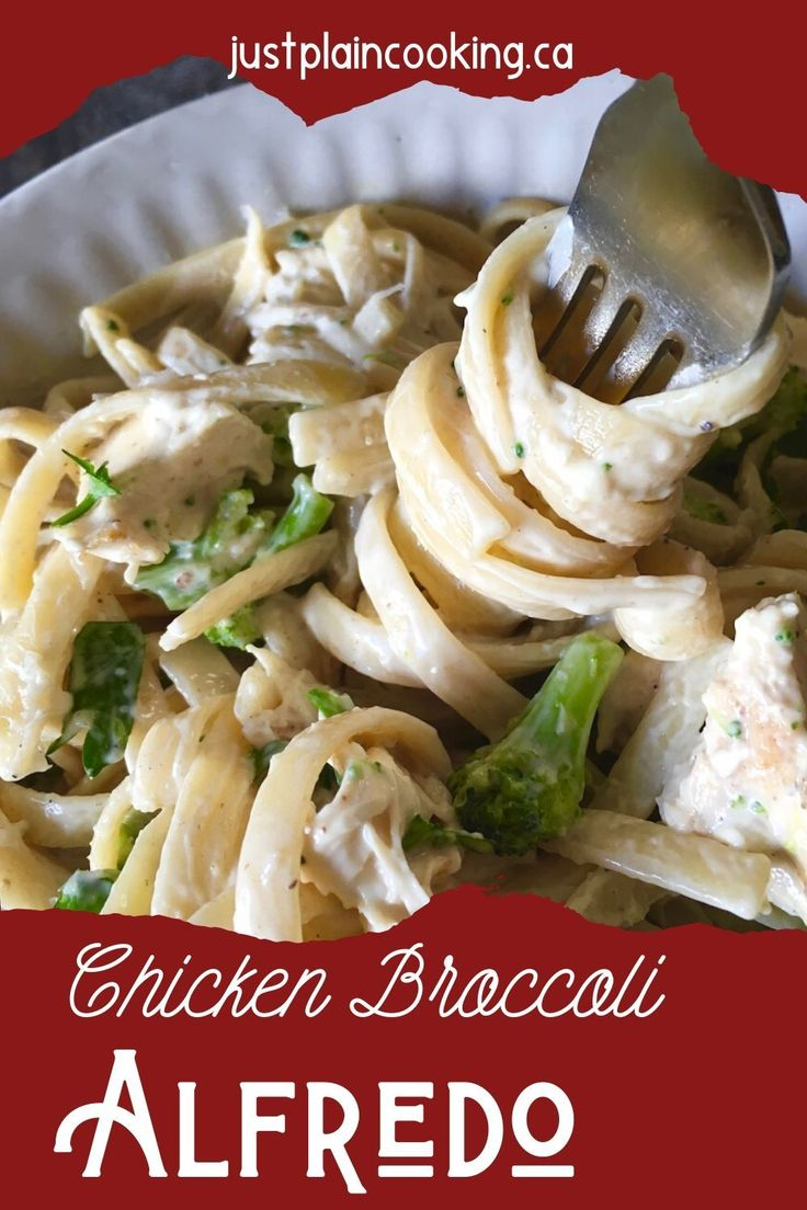 Jun 19, 2020 – Chicken and Broccoli Alfredo adds to the classic recipe with cream cheese and fresh garlic. With chicken…