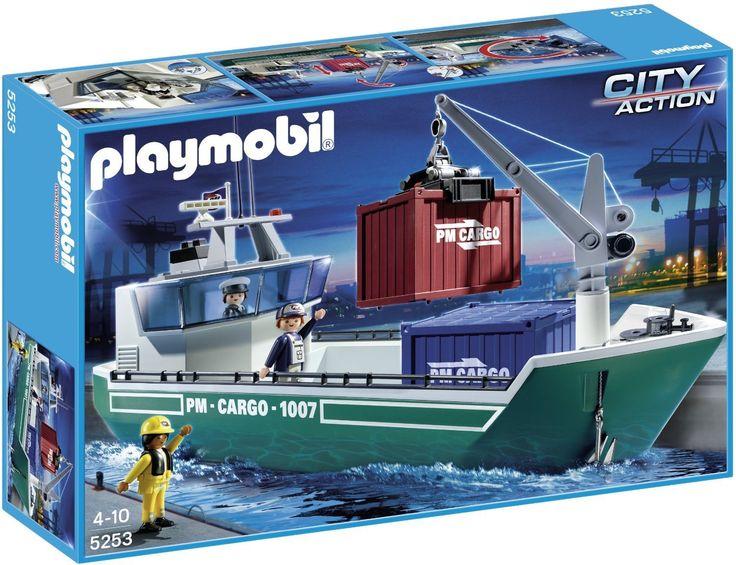 Playmobil City Action 5253 Cargo Ship: Amazon.co.uk: Toys & Games