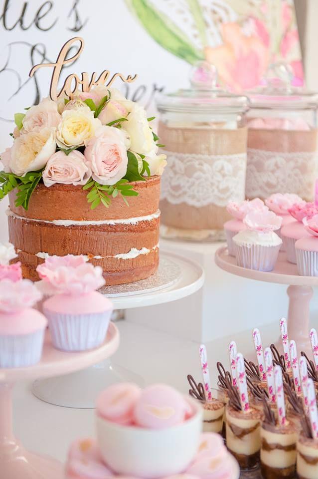 Floral Pastel Bridal Shower With Images Pink Bridal Shower