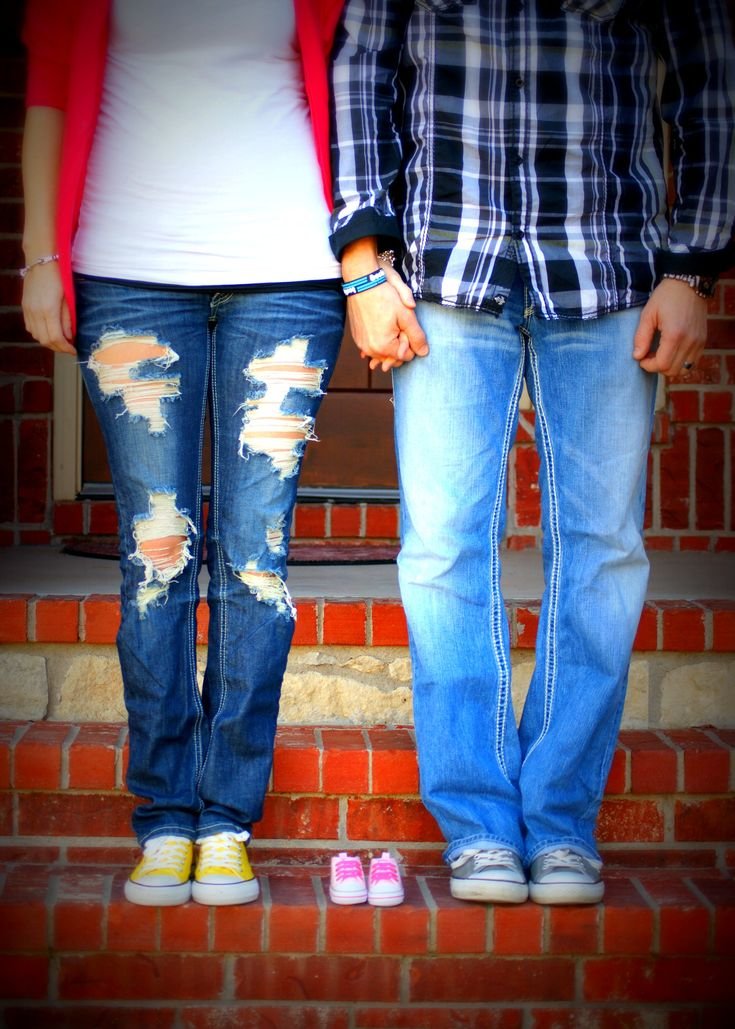 Baby announcement- this looks like us :) the converse shoes would be awesome