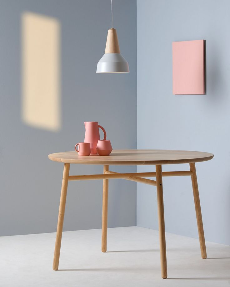 """The series """"Eikon"""" consists of a metal lampshade and a wooden body. Predestined for the """"Hygge"""" style as one of the home living trends 2017."""