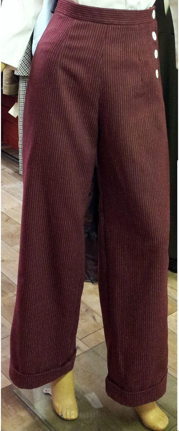 1940's & 50's Swing Pants High Waist Wide Leg by ...