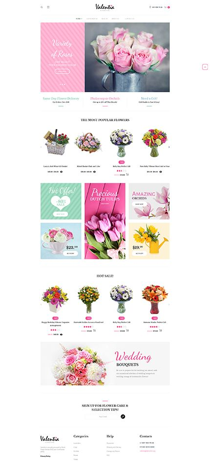 Flowers Online Store #WooCommerce #template. #themes #business #responsive #WooCommercethemes