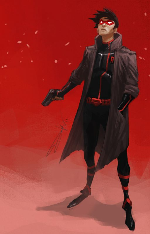 """The Red Hood! Got inspired after watching """"Batman: Under the Red Hood"""" and decided to do a fanart after did hers!"""