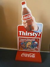 COCA-COLA VINTAGE MILKBAR  SIGN WITH SYDNEY 2000 GAMES MASCOTS INSERTS