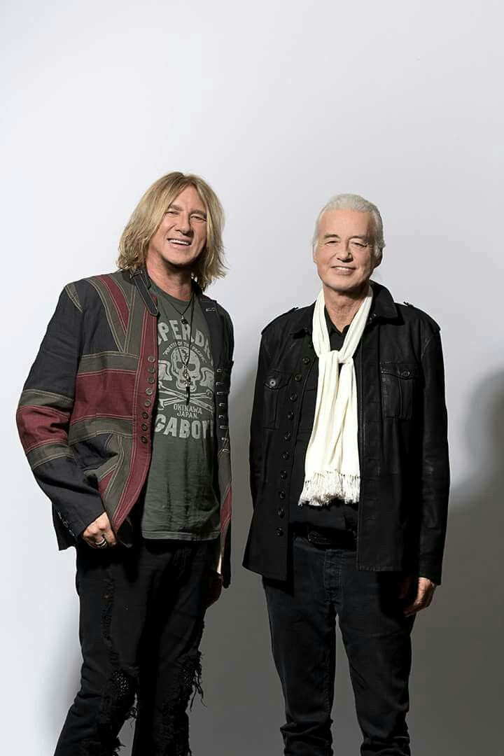 Joe Elliott and Jimmy Page
