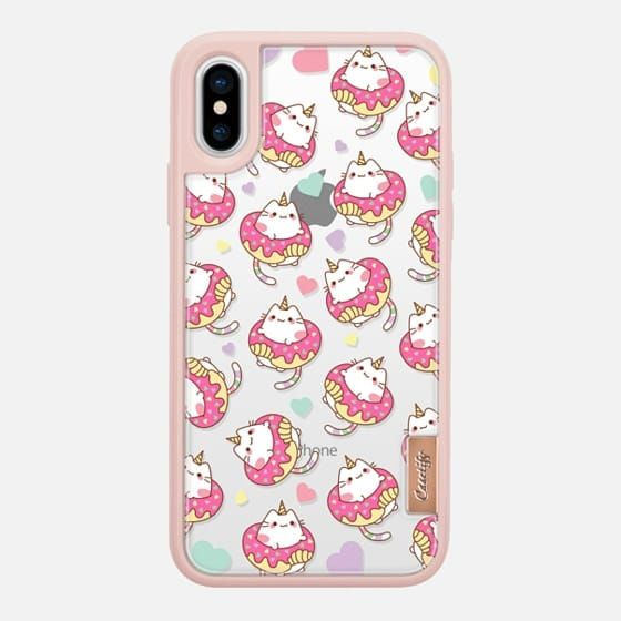 Casetify iPhone X Classic Grip Case - Donut Caticorns by Mint Corner