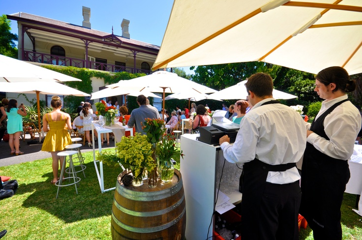 The manicured garden's are perfect for an outdoor event