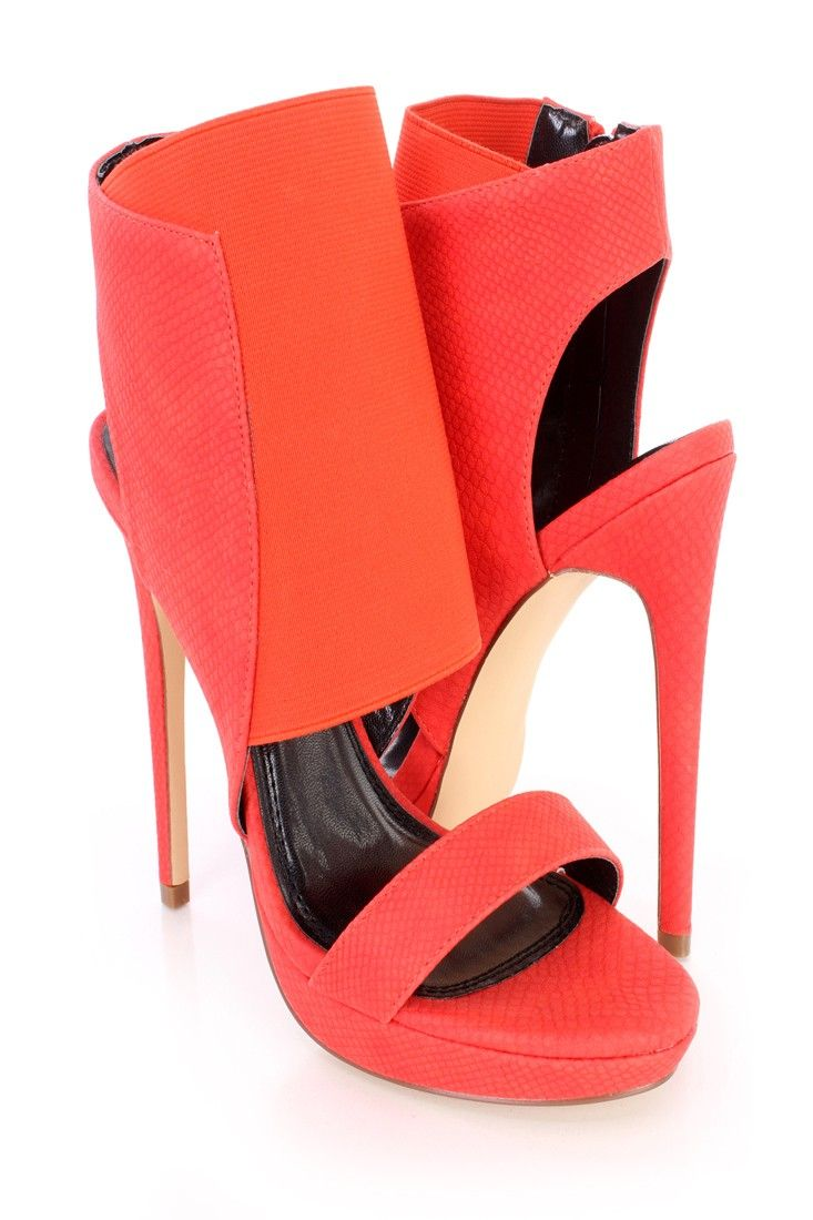 Red 5 Inch High Heels