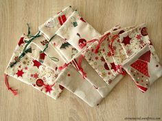 Säckchen nähen für den Adventskalender Teil 1 http://wp.me/pGCcY-nM