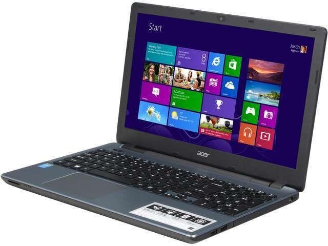 """Acer Notebook E5-571-5552 15.6"""" Intel Core i5 4210U (1.70GHz) 500GB HDD 4GB DDR3"""