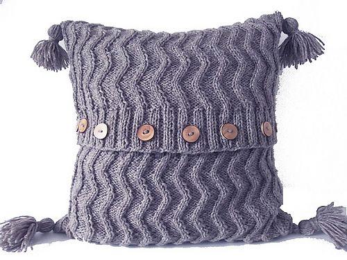 Aran Chevron Cable Cushion/Pillow pattern by Audrey Wilson ...