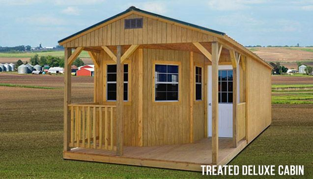 Treated Deluxe Cabin - Prefab Cabins for Sale in Spring Hill, TN - Spring Hill Sheds