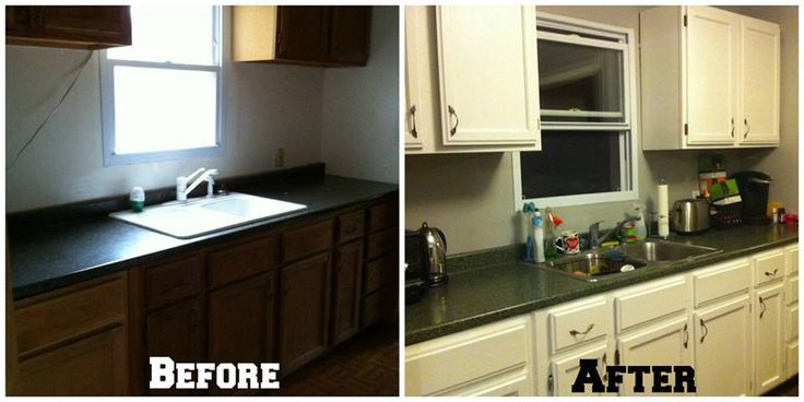 How to paint your kitchen cabinets cheap and easy for Cheap kitchen cabinets louisville ky