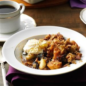 Sweet Potato, Pear, and Fig Crisp Recipe -My unusual fruit crisp celebrates the flavors of the holidays. Offer it as a side, or add ice cream to make it a standout dessert. —Deanna McDonald, Kalamazoo, Michigan