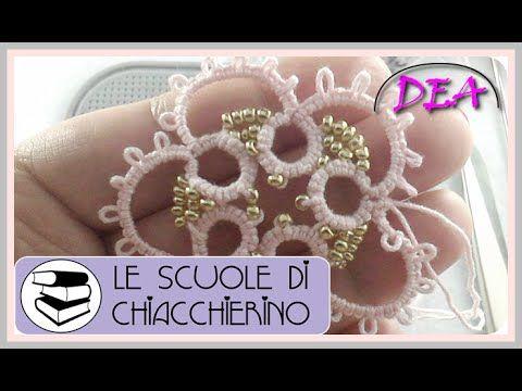 15°Tutoria di Chiacchierino a Navette: Le perline tra i nodi. - YouTube
