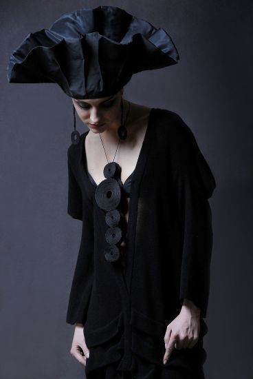 . fab romantic gothic grimm and fairy style love the contemporary jewellery statement necklace and dutch european folk style hat