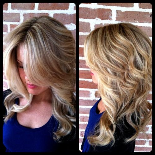 dimensional blonde hair color