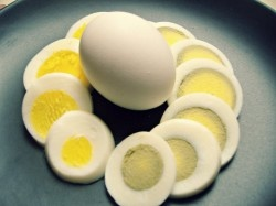 """The """"right"""" way to boil a perfect egg. And a cool little bit of science on why the yolks go greenish sometimes. :)"""