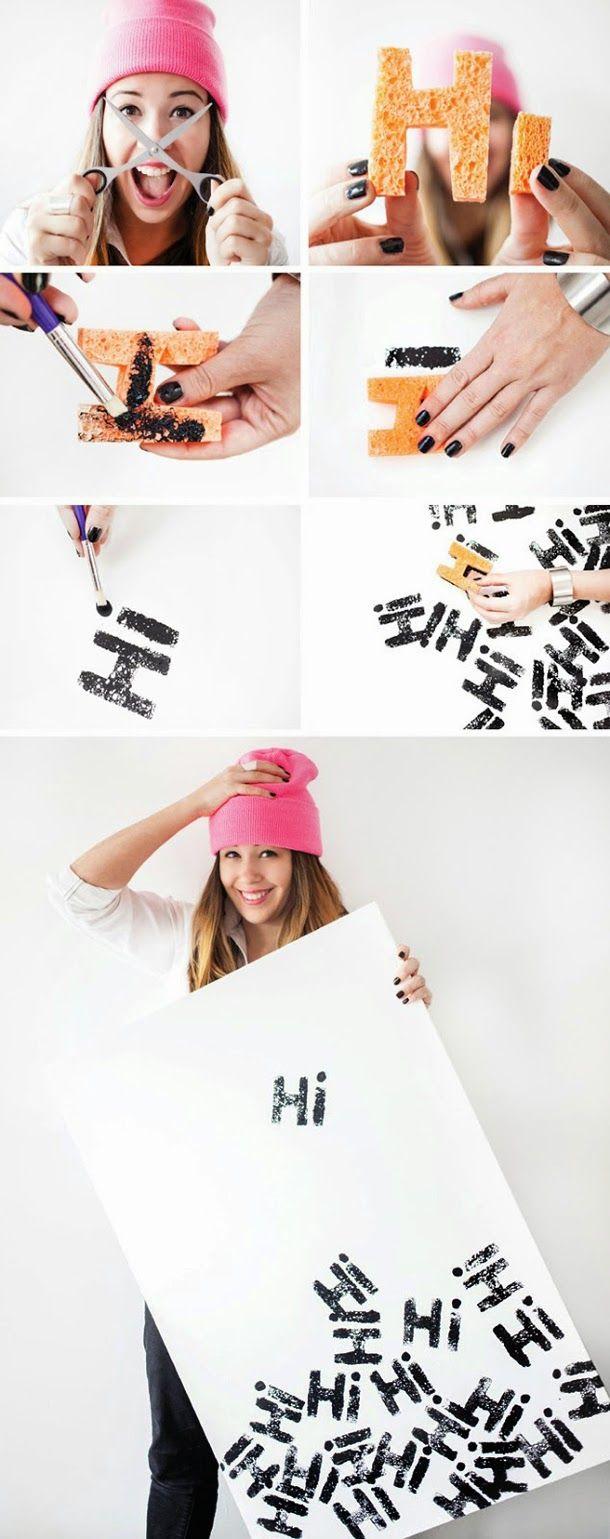 DIY: Faça você mesmo um criativo quadro decorado com stencil!