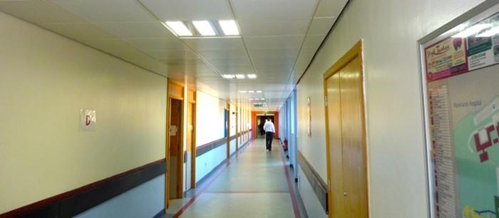 Monklands Hospital, NHS Lanarkshire with installed neutral white Nova LED ceiling panel.