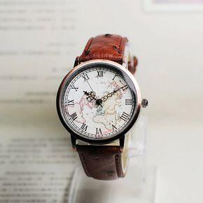 Kaart horloge, zeilen dagboek, Vintage stijl Leather Watch, vrouwen horloges…