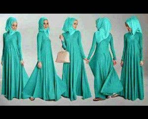 Model baju muslim syar'i simple maxi chita KM254