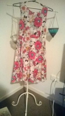 'My Girl' Brand Size 8, Silk Floral Dress