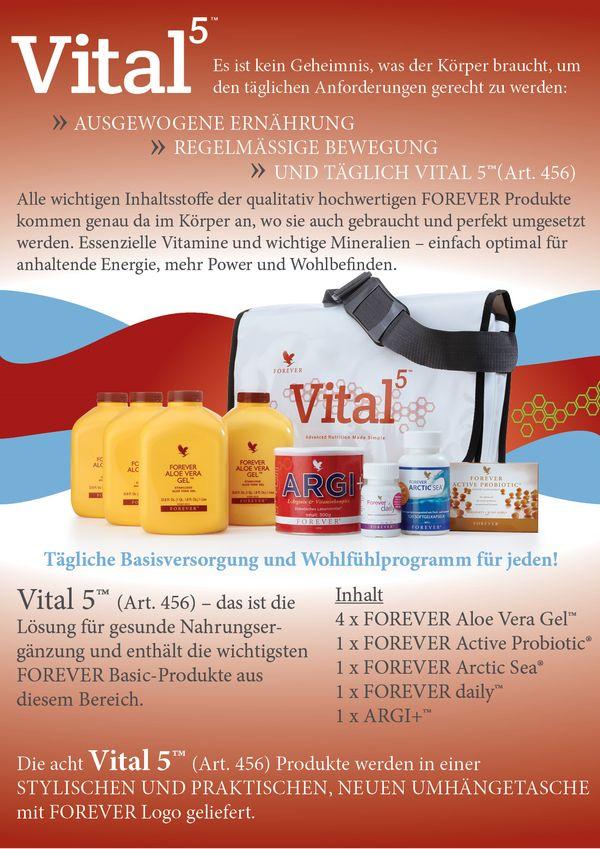 FOREVER Vital 5™. Ett underbart enkelt paket  för entt grundligt välmående. För mer information gå till www.myaloevera.se/sofiapersson