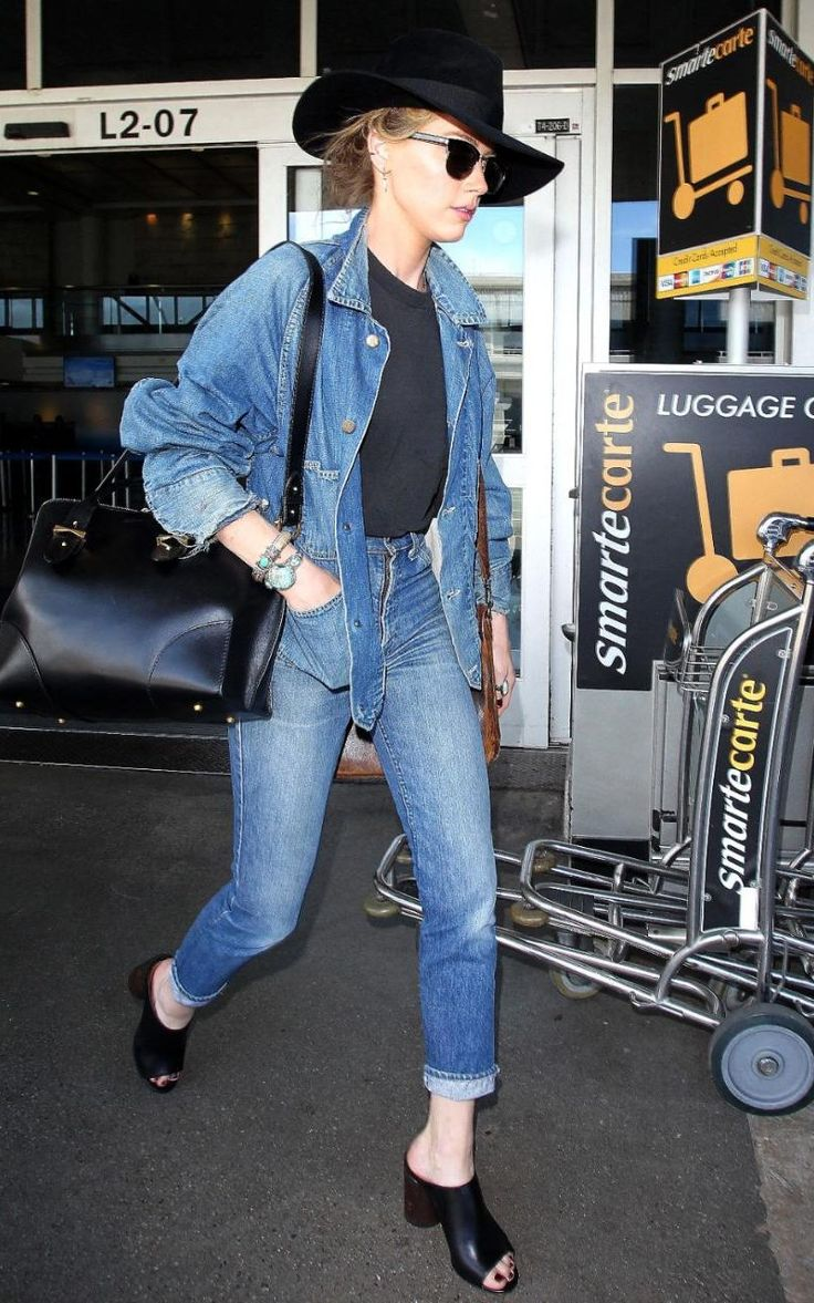 Amber Heard proves it's OK to wear double denim. Here's how to follow her lead.