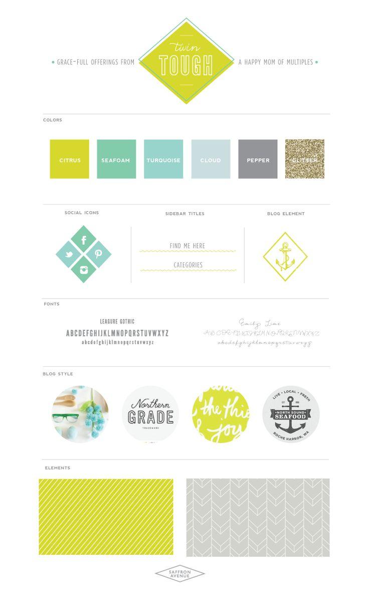 Playful Modern Blog Design :: Twin Tough. I love this blog design!