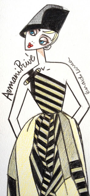 armani prive spring 13 couture    illustration copyright © gerardo larrea