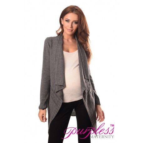 2in1 Maternity and Nursing Cascade Open Front Cardigan 9003 Dark Grey  Every maternity wardrobe needs a cardigan. Our 2in1 maternity and nursing long sleeve cascade open front cardigan will add a level of comfort when you feel the need to wrap up.