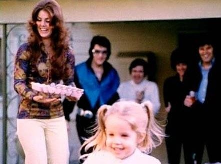 , priscilla and elvis in back of lisa marie