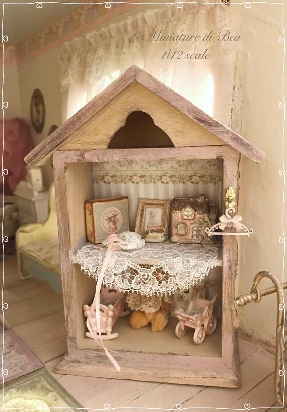 Échelle 1:12 Décorations de Noël or Dolls House Miniature accessoires