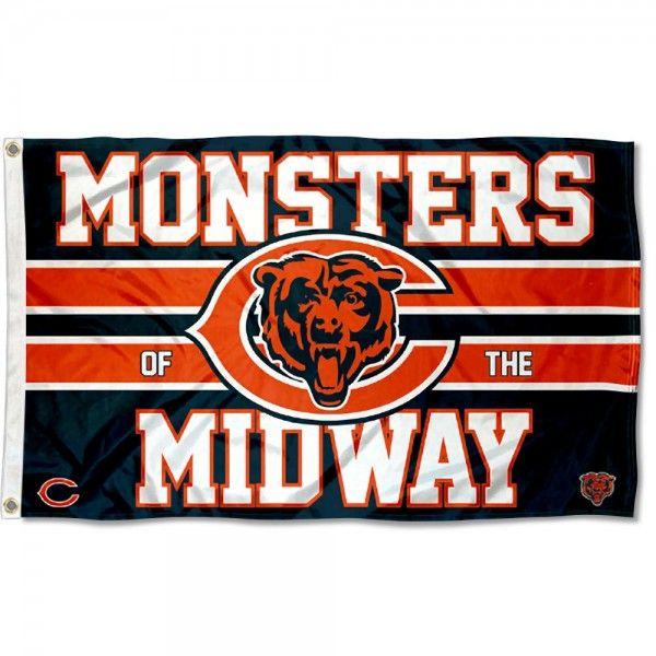 Chicago Bears Custom Nfl Flag Banner 3x5 Ft 90x150cm Free Logo Design Chicago Bears Nfl Flag Chicago Bears Logo