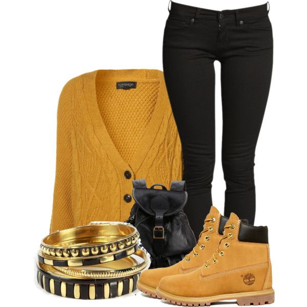 A fashion look from October 2012 featuring Timberland ankle booties and Jas  M.