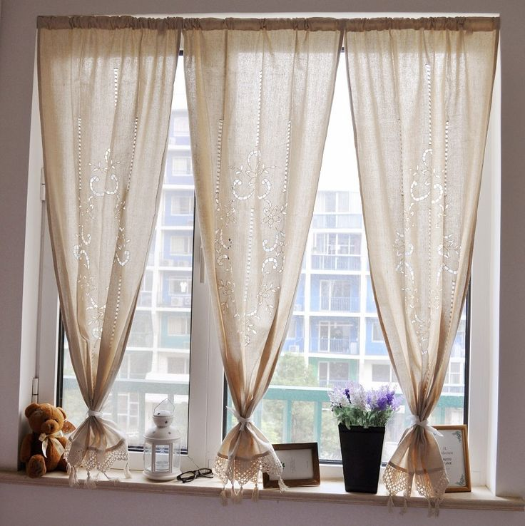 Best 25 short window curtains ideas on pinterest long for Long window curtain ideas