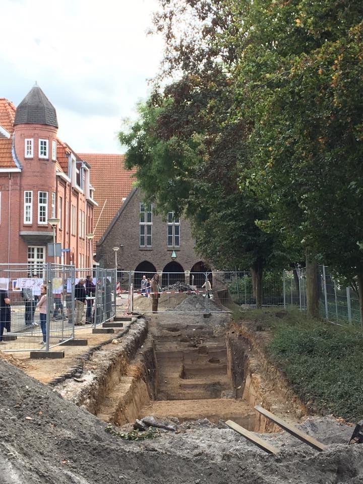 Heerlen | oktober 2016 | tijdens een open dag krijgt de bezoeker een indruk van romeinse vondsten onder het Tempsplein
