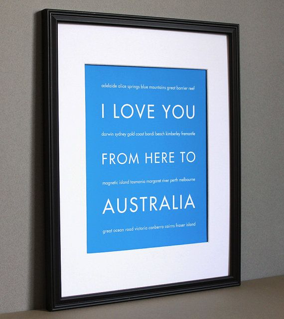 i love you from here to australia