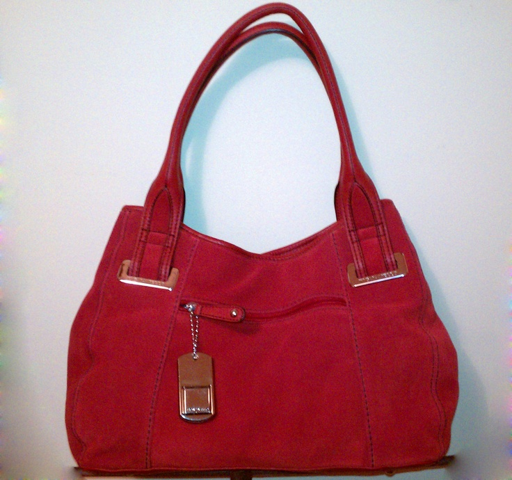 My Gorgeous New Tignanello Brick Red Suede Purse Thank You Husband Multiple Clothing