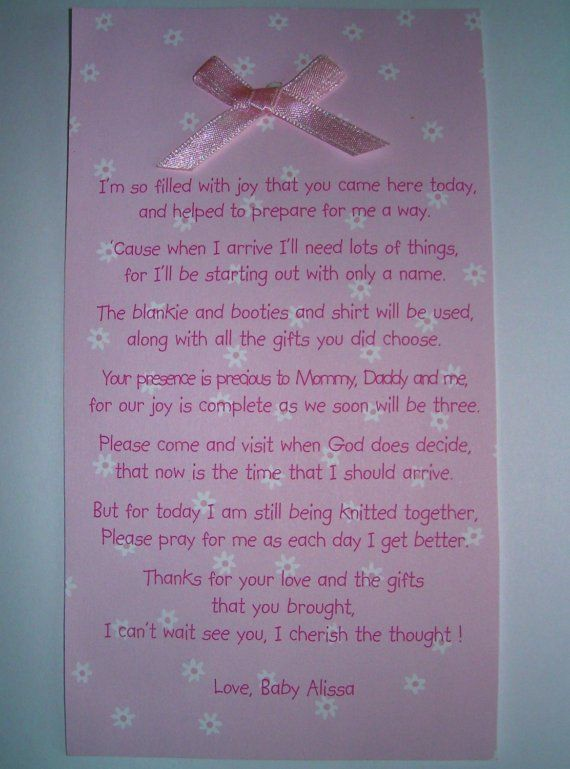 Baby Shower Quotes Poems ~ Best images about thank you notes on pinterest