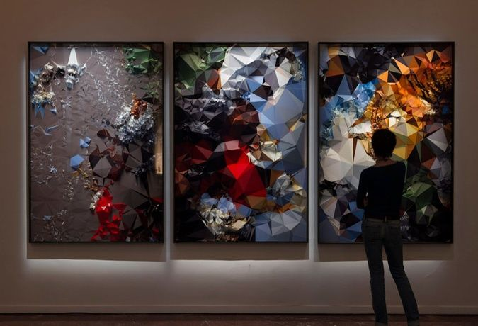 Quayola - Iconographies #20, 2014, 'Tiger Hunt' after Rubens, Installation View - Copyright Quayola